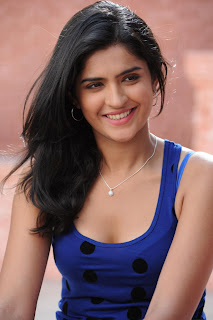 Deeksha Seth in spicy blue Tank Top lvoely cute Pictures