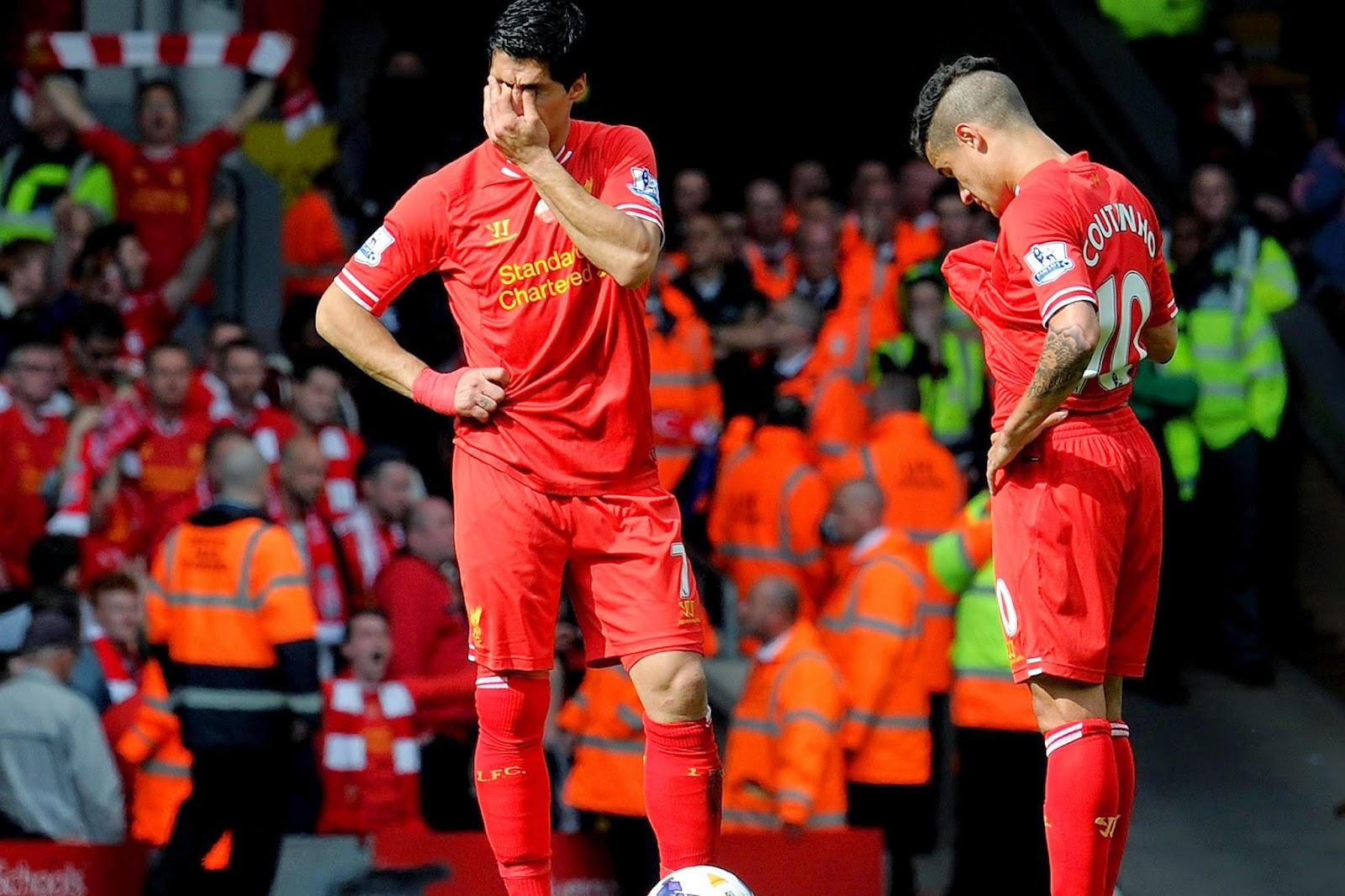 Ekspresi pemain-pemain Liverpool saat kalah dari Chelsea