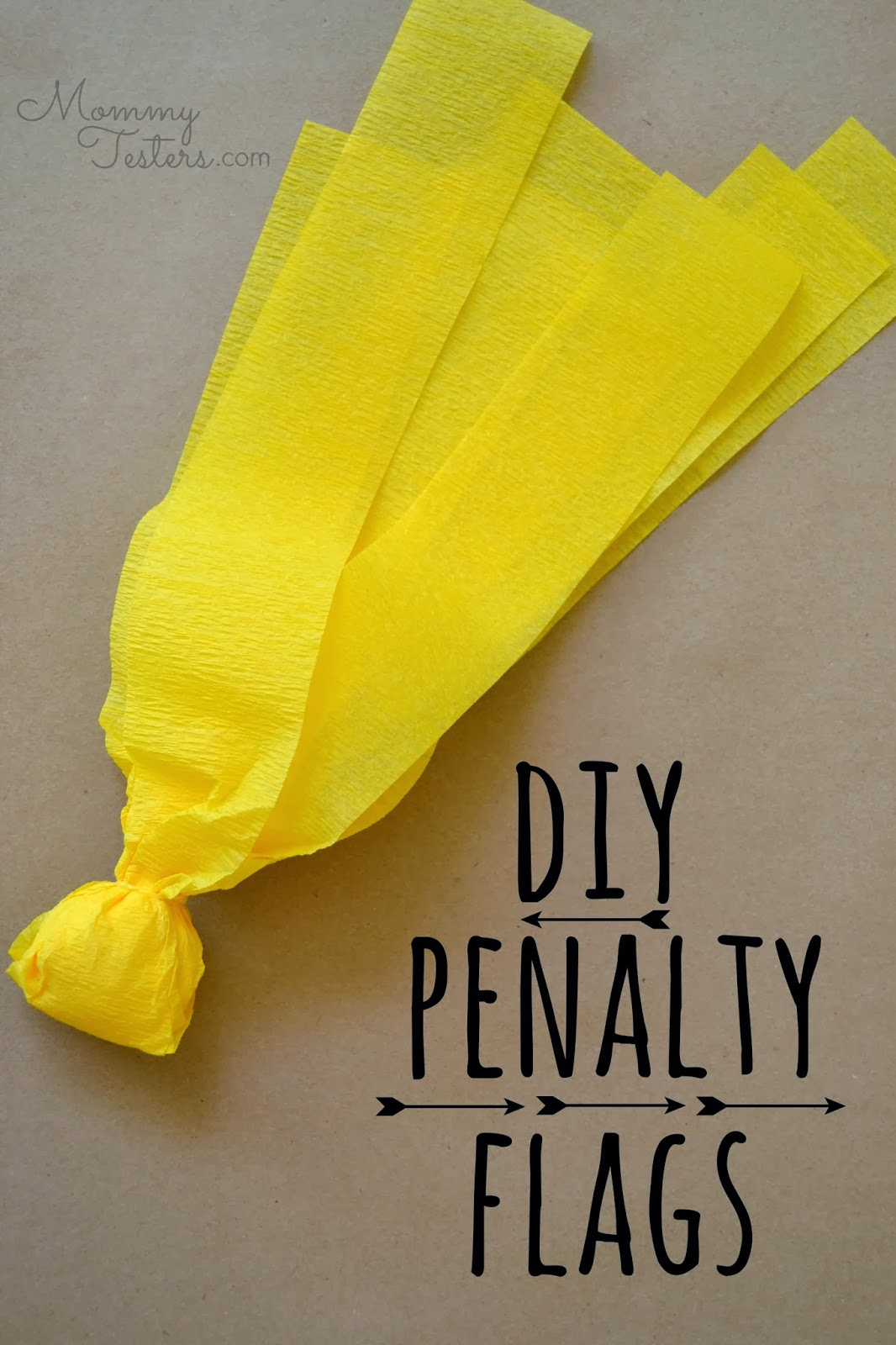 Mommy Testers, DIY Penalty Flags, Football penalty flags, How to make penalty flags, Easy penalty flags, #OneBuyForAll #cbias #shop