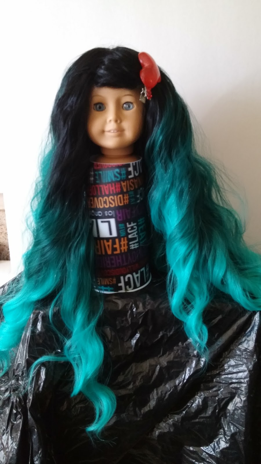 Aqua Mermaid Wig For American Girl Dolls
