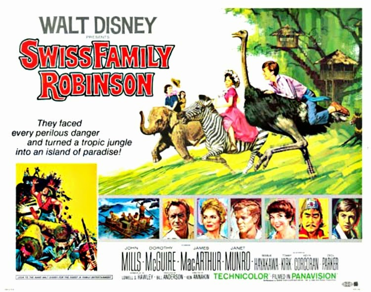 A Vintage Nerd, Vintage Blog, Old Hollywood Blog, Classic Film Blog, And then there were none, Robinson Crusoe , Swiss Family Robinson