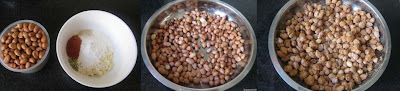Peanuts and flour for masala peanuts