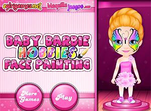 Baby Barbie se pinta la cara