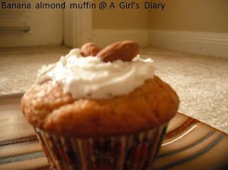 banana and almond muffin