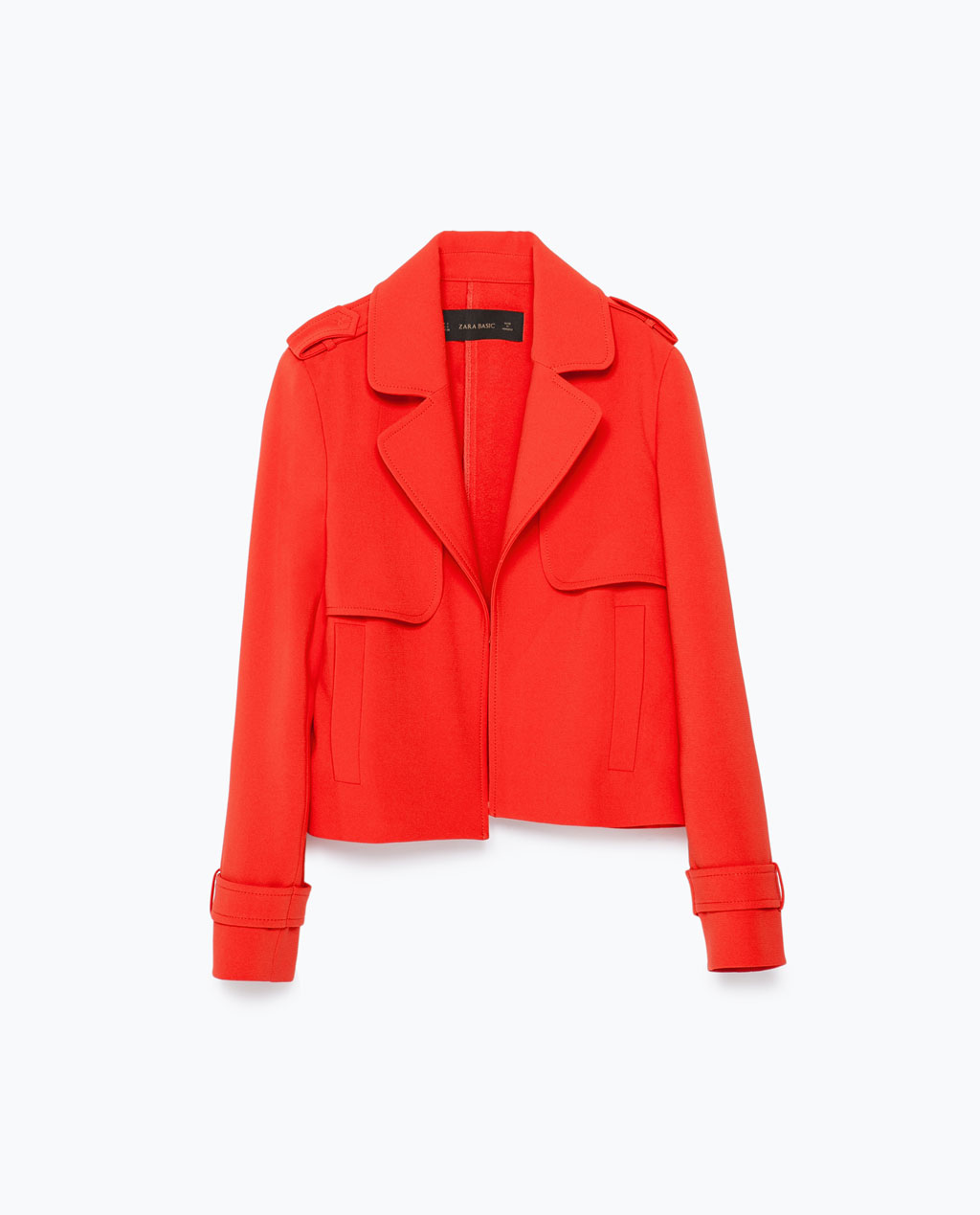 Zara Short Blazer With Lapel
