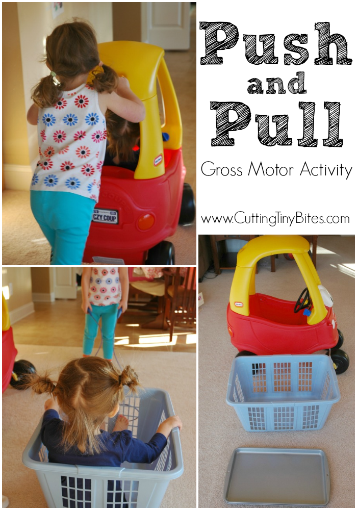 Push and Pull- Gross Motor Activity perfect for indoor play. Keep those kids active!