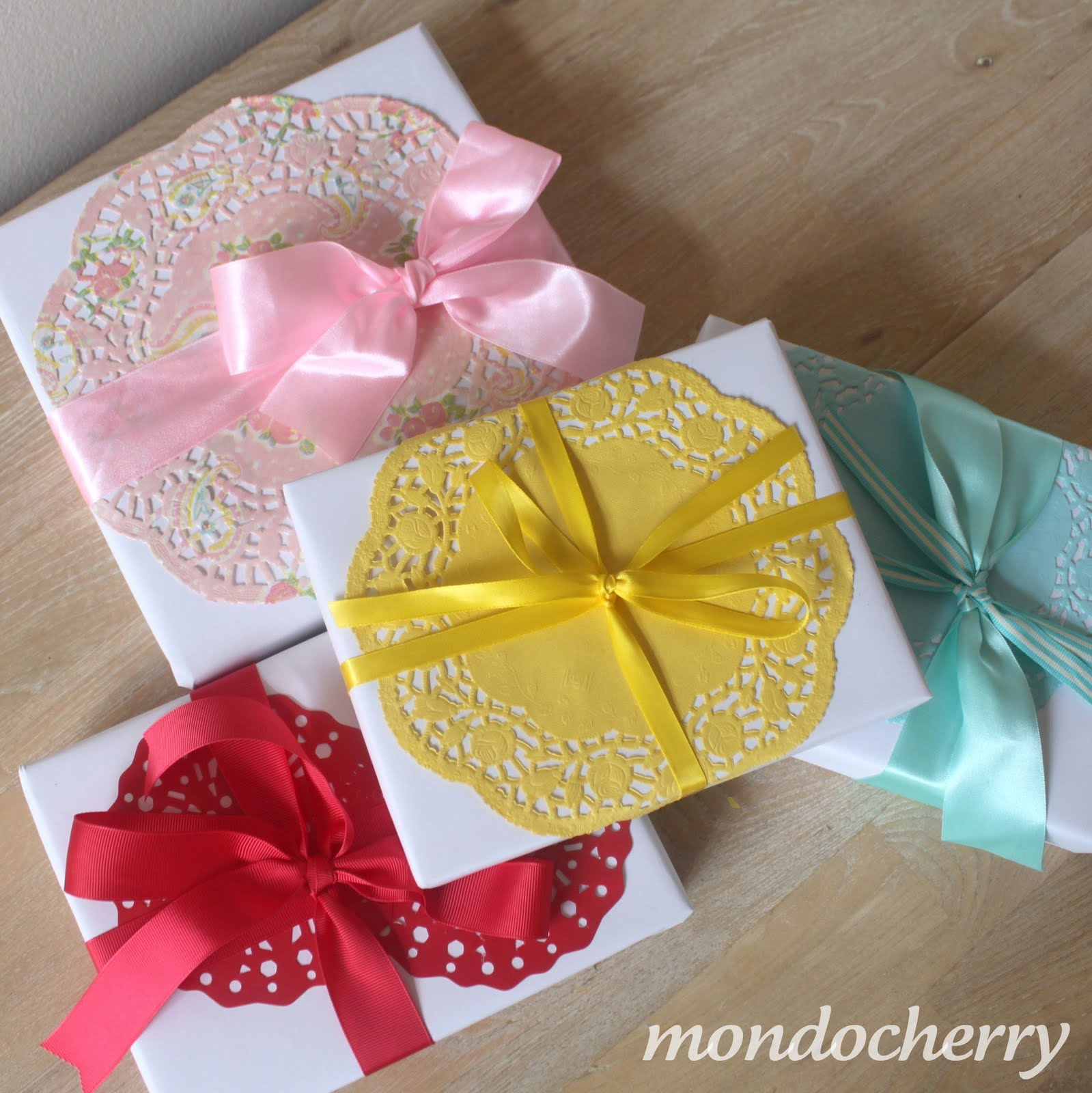 A small bite of mondocherrygift wrapping on elladore