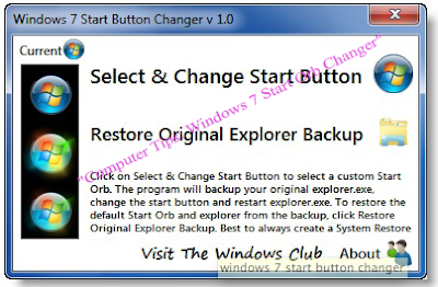 Computer Tips: Windows 7 Start Orb Changer