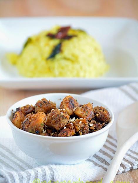 Arbi / Taro root / Seppangilangu Roast / Fry Recipe