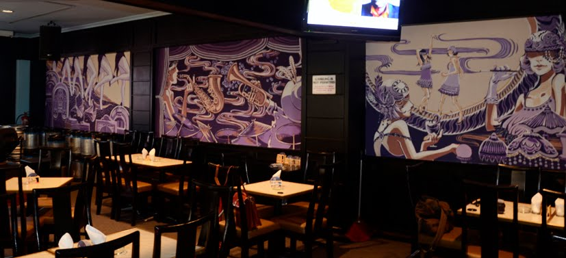 muses of the kiyaa jazz bar murals. Black Bedroom Furniture Sets. Home Design Ideas