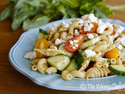 The Weary Chef: Pretty Pasta Salad