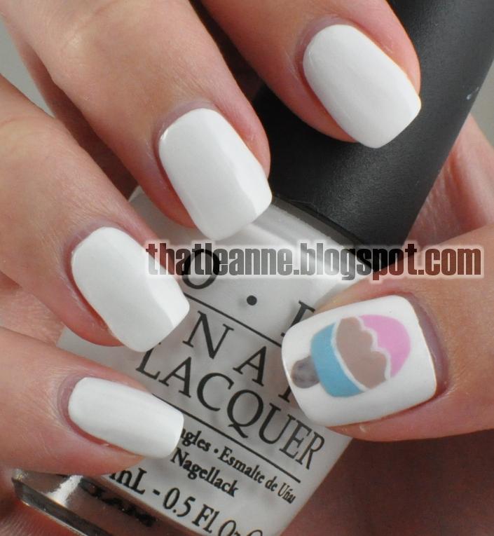 Nail Cream: Thatleanne: Kikki-K Inspired Ice Cream Nails