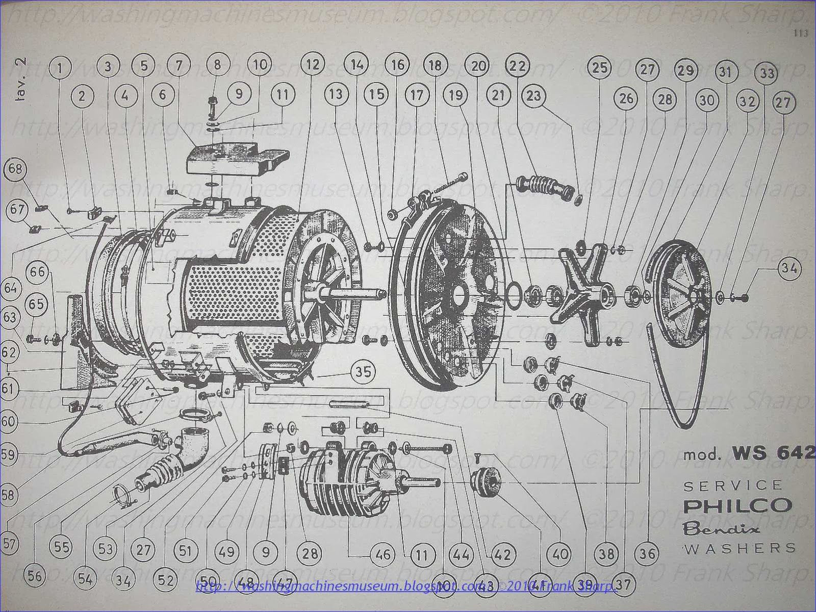 Philco Washer Motor Wiring Diagram Free Download Kenmore Washing Machine Rama Museum Bendix Ws642 Schematic At