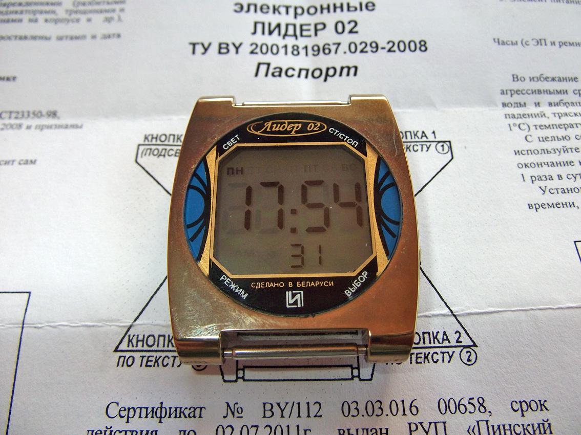 инструкции электронных часов