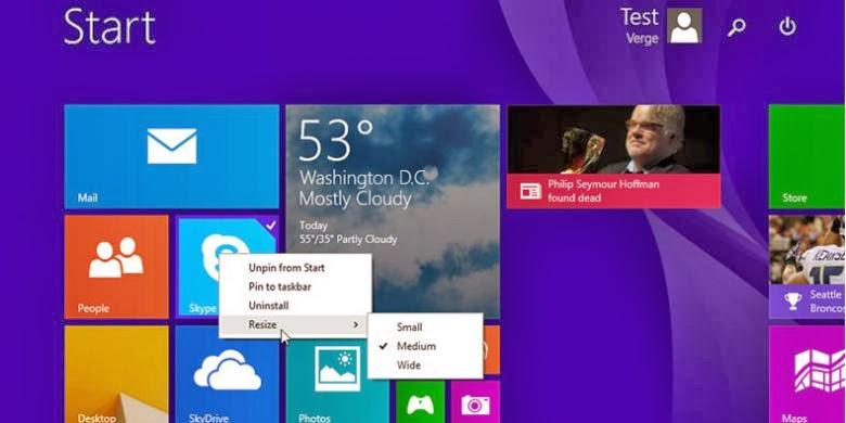 Tampilan Terbaru Windows 8.1