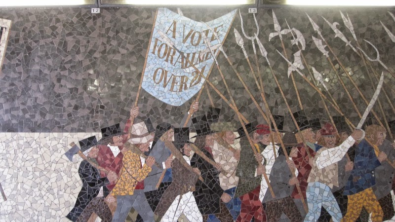 Fighting talk by mark metcalf chartist mural destroyed for Chartist mural newport
