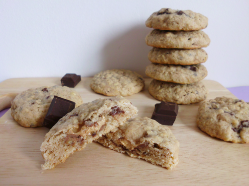 Milky Way-Stuffed Chewy Chocolate Chunk Oatmeal Cookies