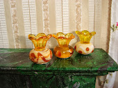Вазы из бусин. Vases of beads.
