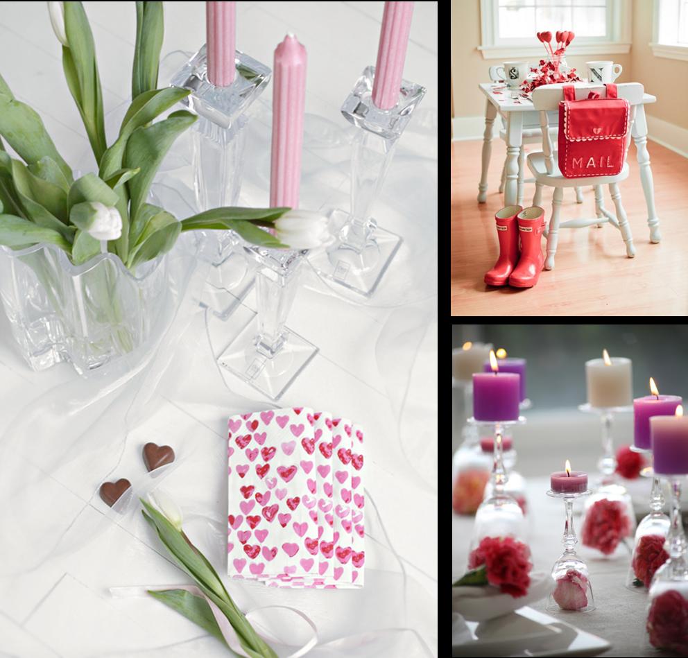 Decoraci n f cil tres decoraciones de mesa para san valentin - Decoraciones de mesas ...