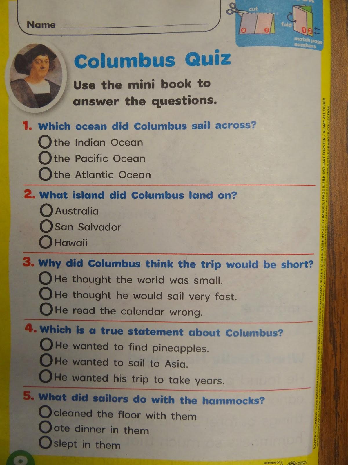 Patties classroom christopher columbus activities a columbus quiz from the weekly readerscholastic news ibookread Download