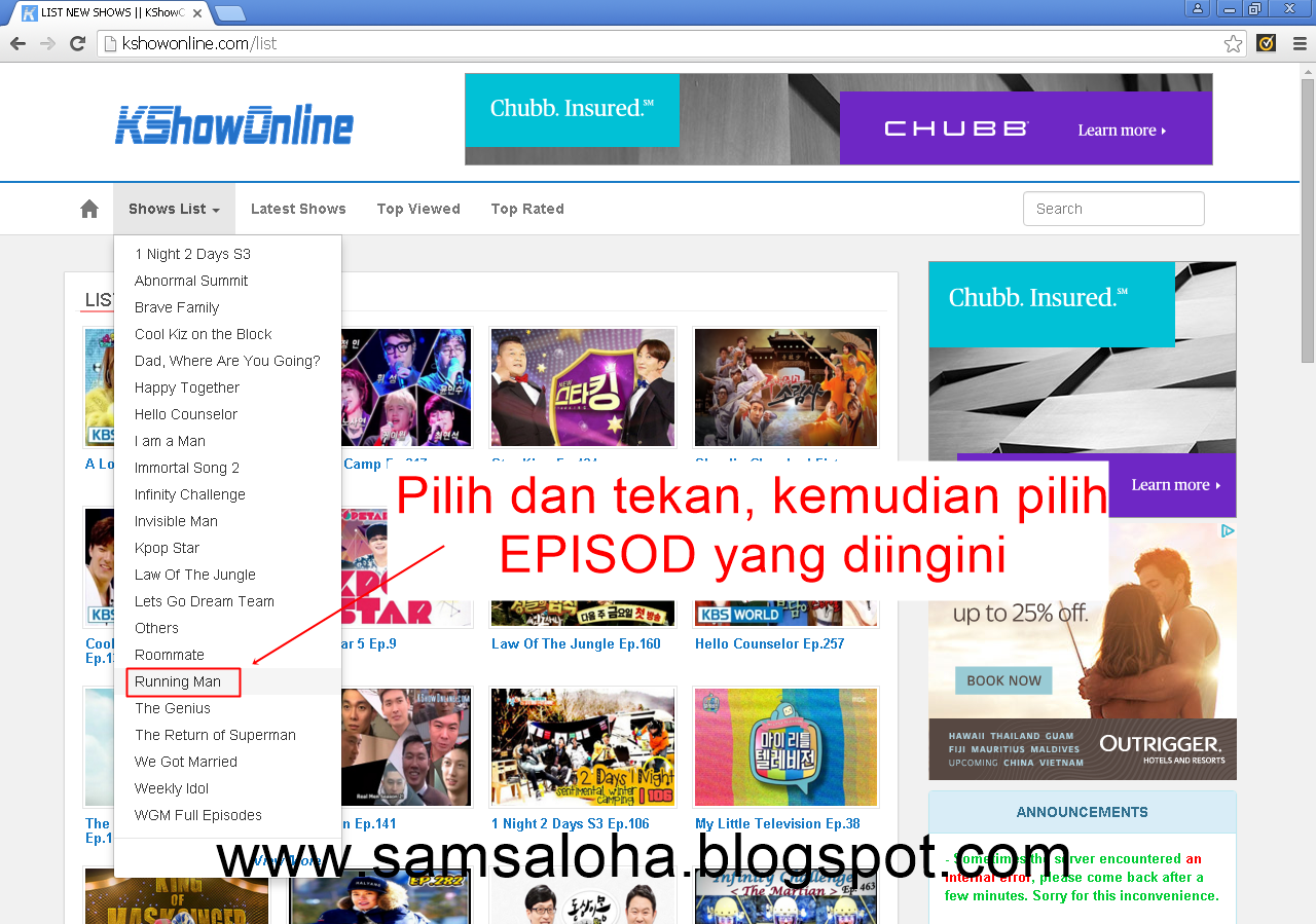 how to download running man in kshowonline