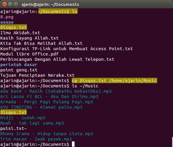 Perintah dasar linux - cp
