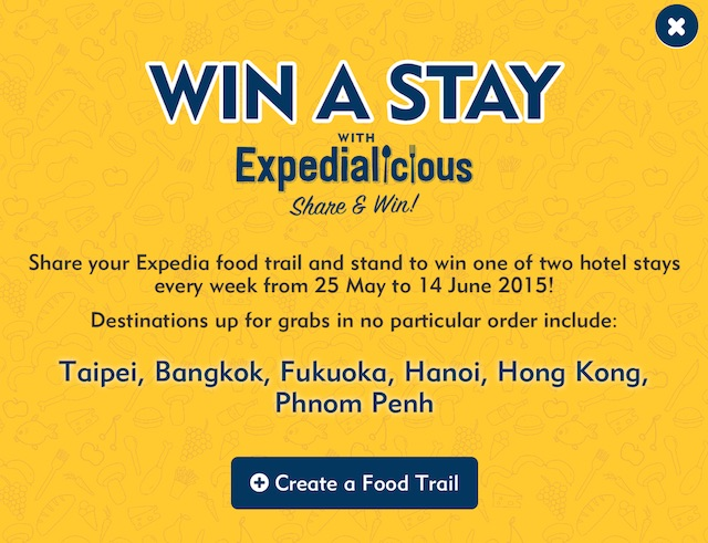 Create Your Own Expedialicious Food Trail & Win Hotel Stays !