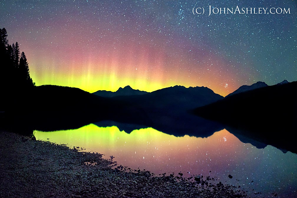 Northern lights over Kintla Lake (c) John Ashley