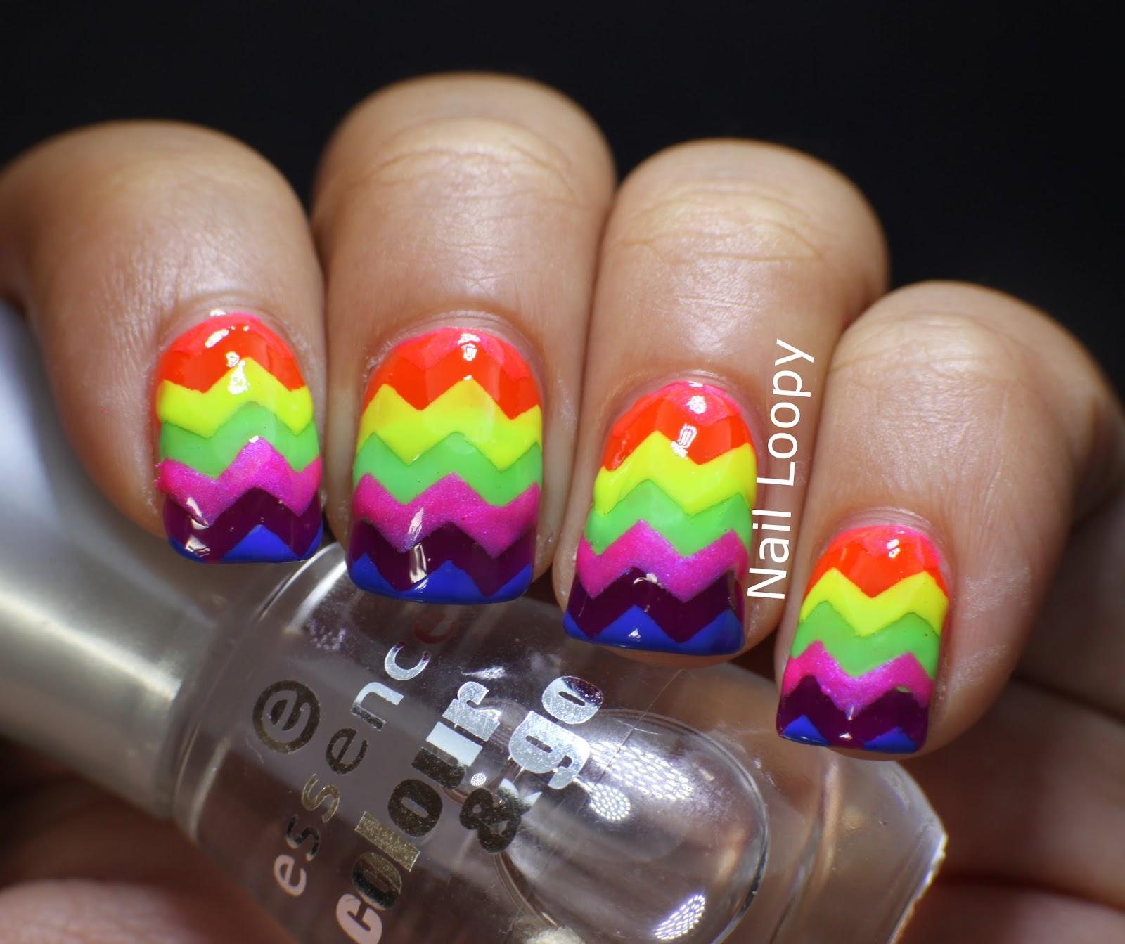 nail loopy: OPI NEON RAINBOW CHEVRON NAILS
