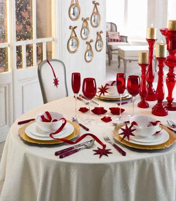 mesas decoradas para Navidad y Nochevieja