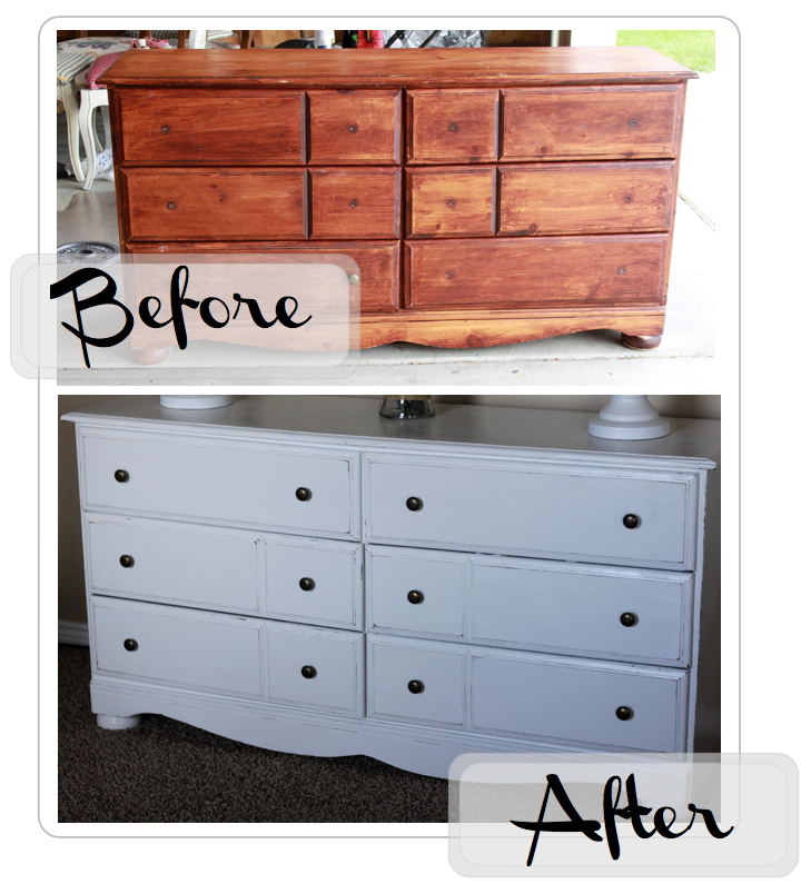 Above  is a dresser that I refinished stained over 6 years ago  It was  in  fact  my very first refinishing project ever  Can you tell  Yes  yes you  can. do it yourself divas  DIY  Painting Solid Wood Furniture White