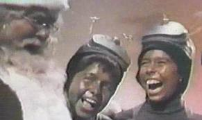Martian children laughing in Santa Claus Conquers the Martians http://movieloversreviews.blogspot.com/2012/12/santa-claus-conquers-martians-1964.html