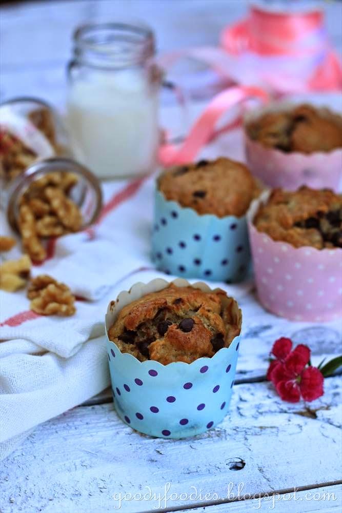 recipe: banana nut muffins (paula deen)