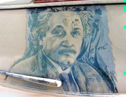 Lukisan Albert Einstein karya Scott Wade