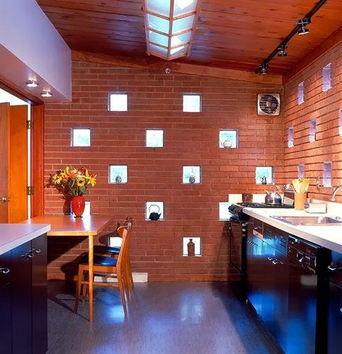 dinding batu bata model rumah modern