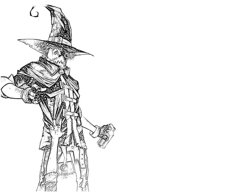 free coloring pages of batman scarecrow