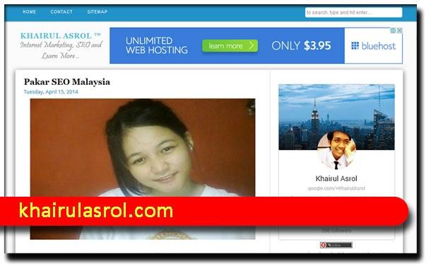 Pakar SEO Malaysia : Saudara Khairul Asrol