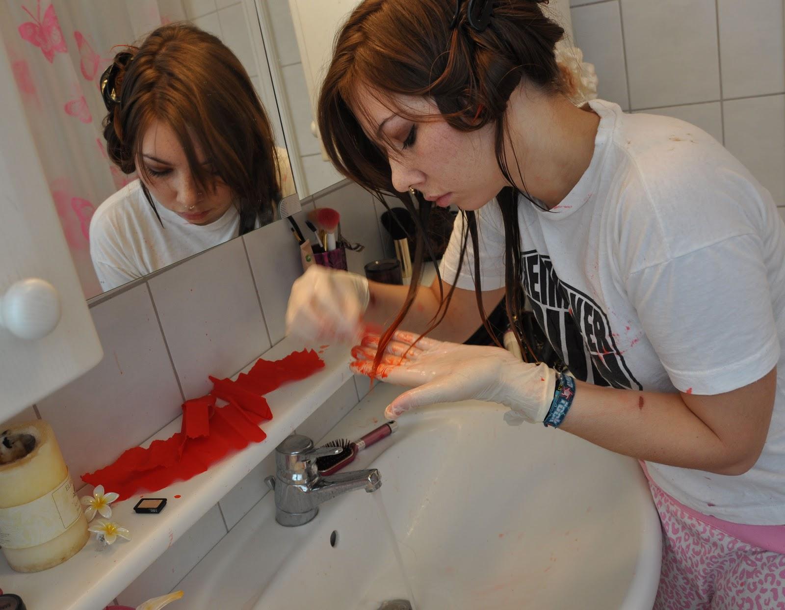 ena-maria b.: dip dye hair - diy mit krepppapier, Hause ideen