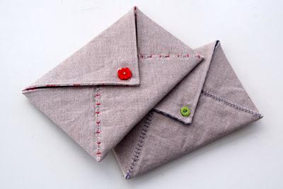 envelope de tecido com PAP (DIY) - dia dos namorados