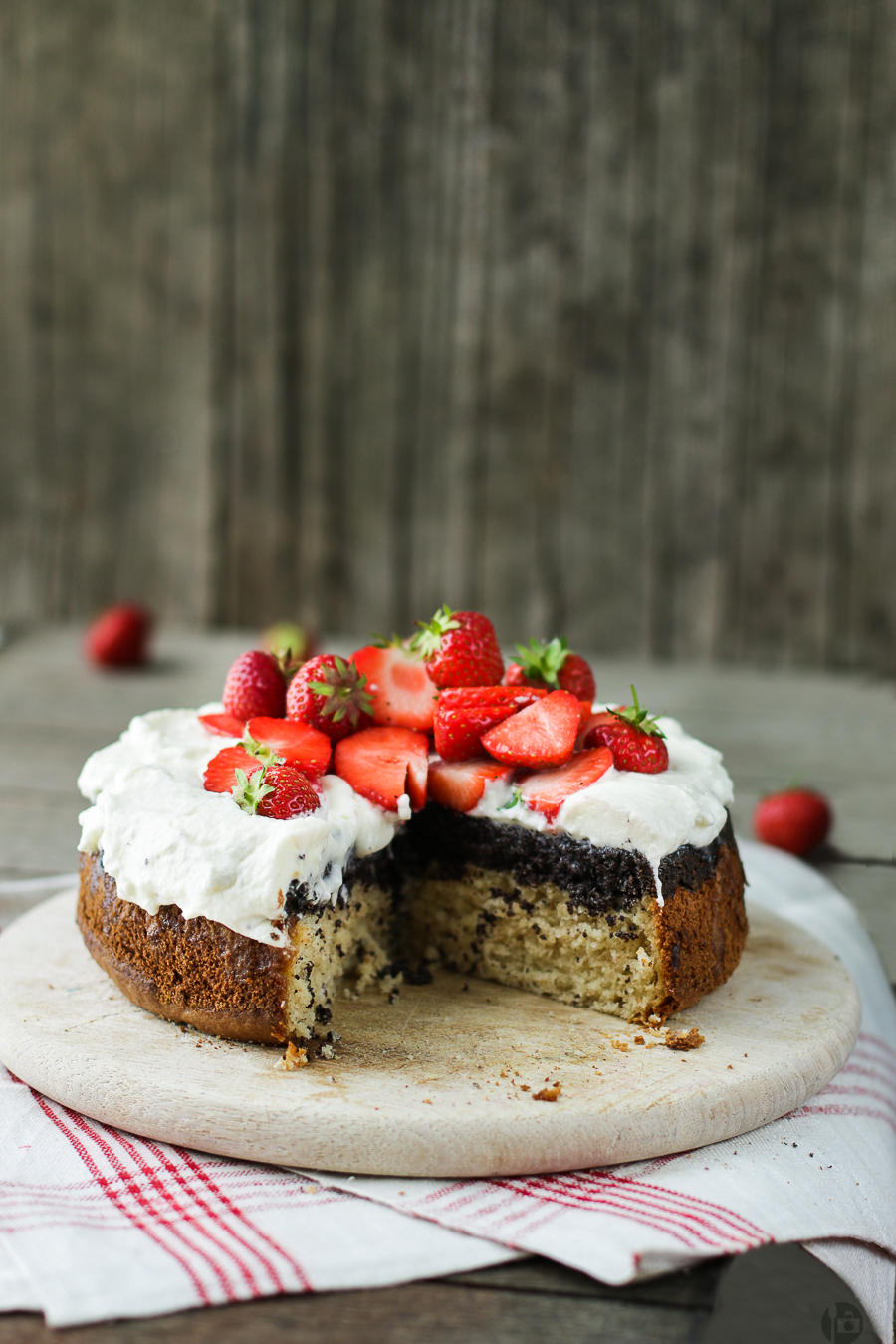 Strawberry and Poppy Seed Upside Down Cake Photo