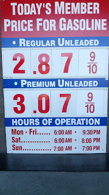 Costco gas for Apr. 16, 2015 at Redwood City, CA