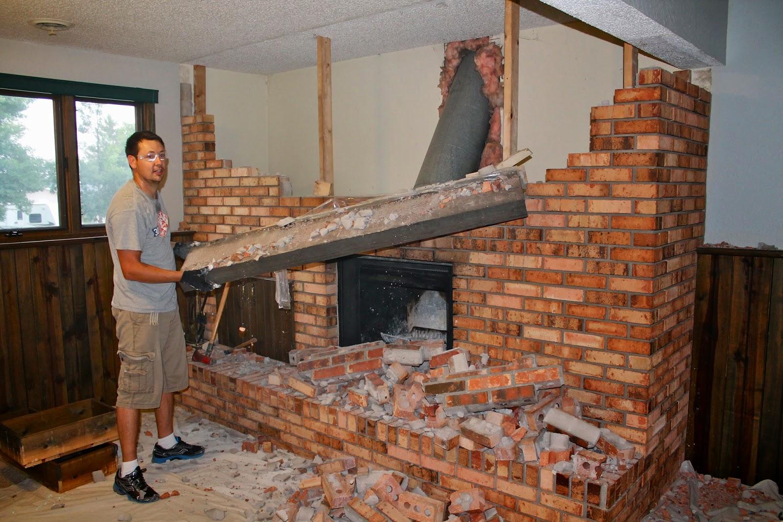 The 6 Bears: fireplace demolition