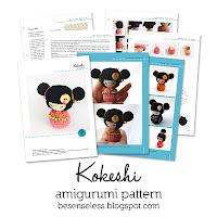 kokeshi amigurumi pattern