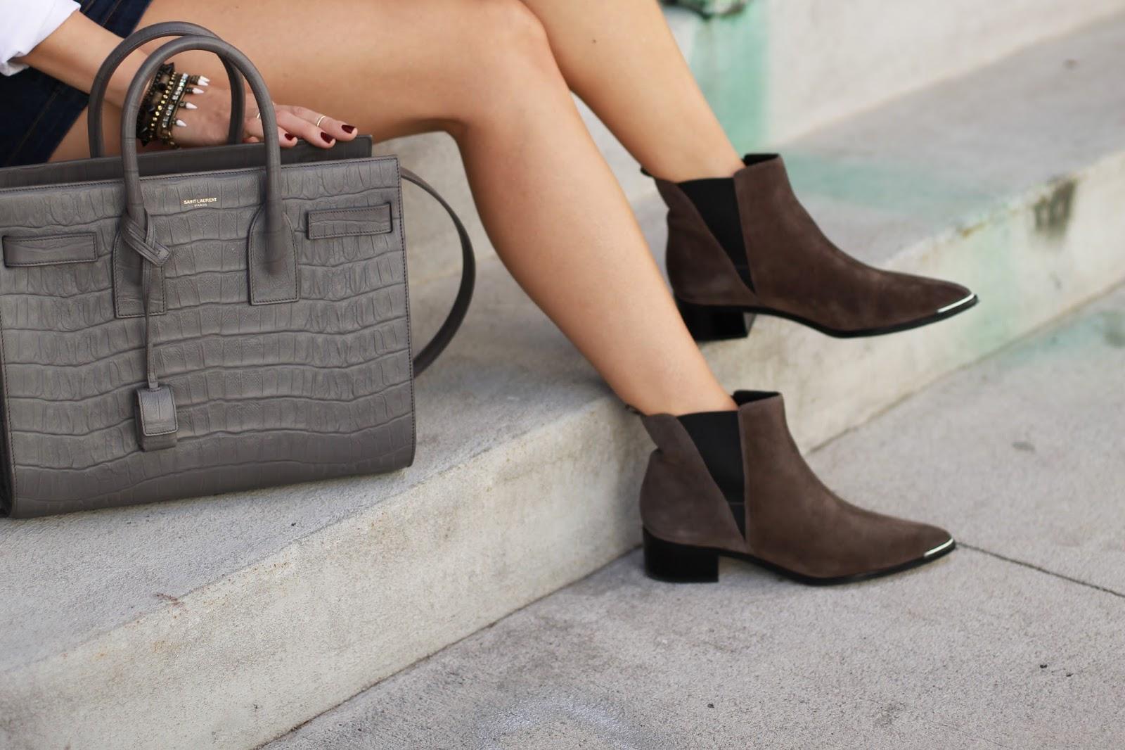 saint laurent croc bag, marc fisher yale boot, chelsea boot
