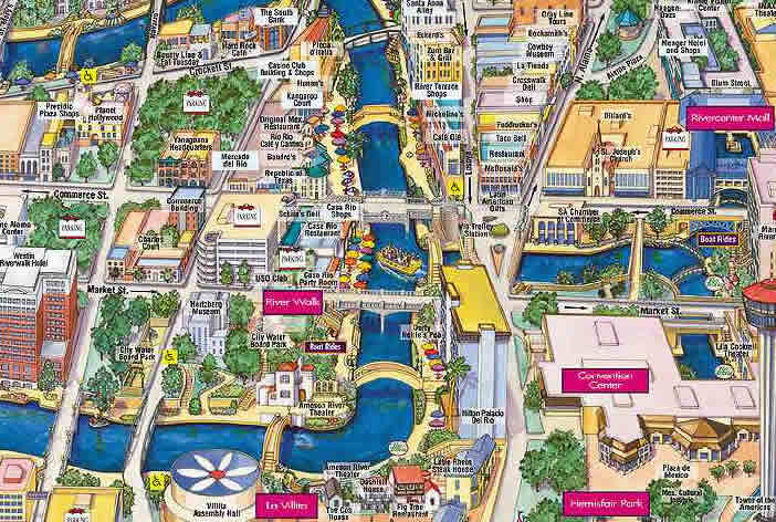 San Antonio River Walk Map Free Printable Maps – Tourist Attractions Map In Milwaukee