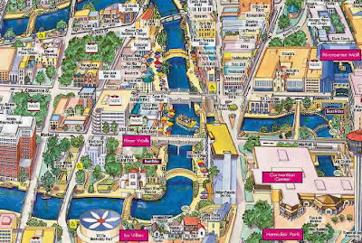 San Antonio River Walk Map for tourists