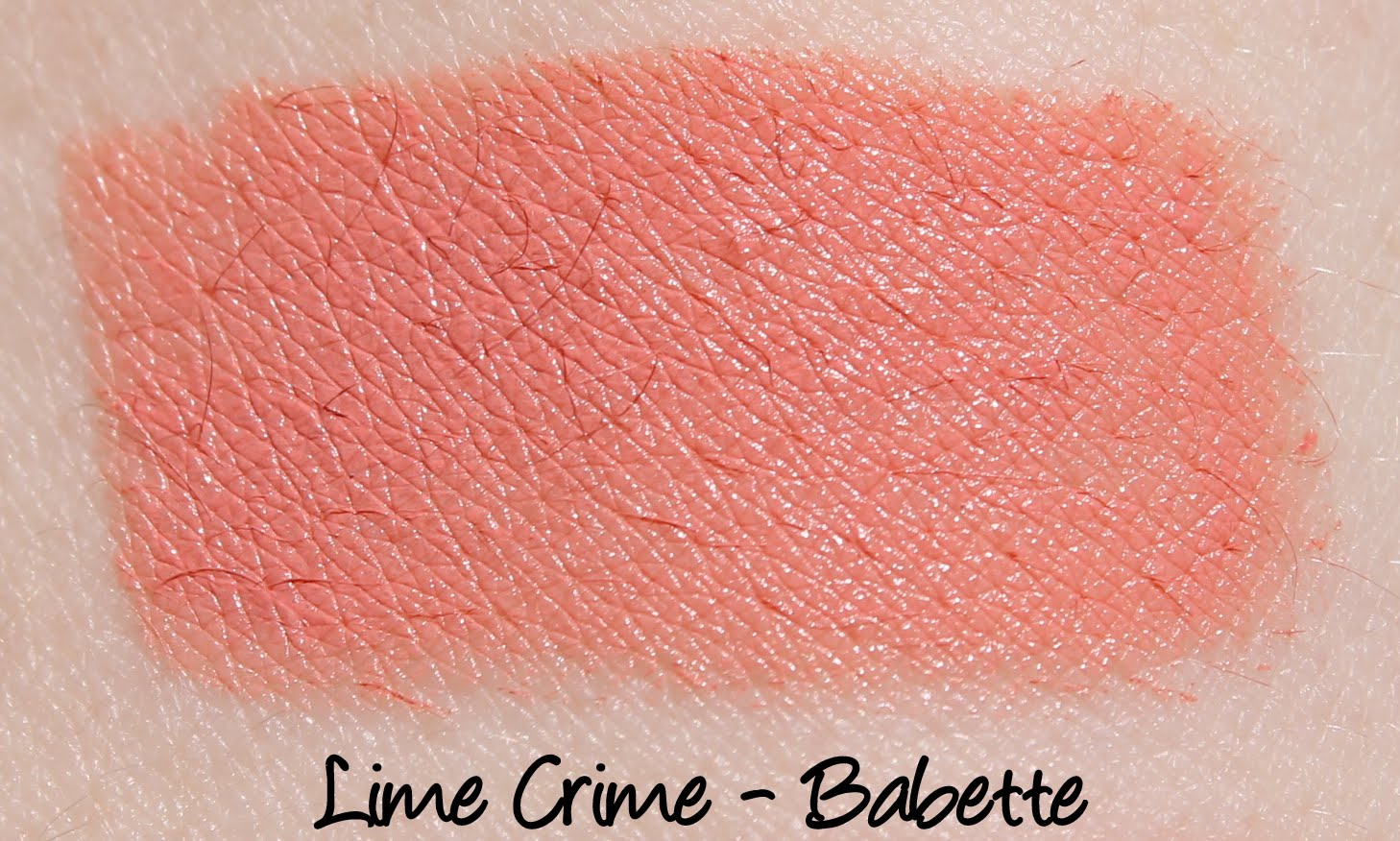 Lime Crime Babette Lipstick Swatch