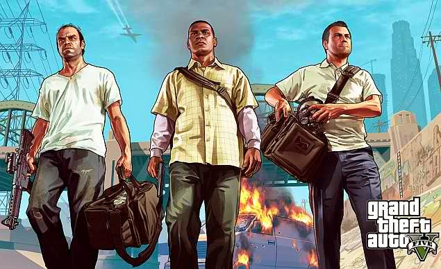 Rockstar Games, GTA V,  Grand Theft Auto V,  PS4, Xbox One, and PC