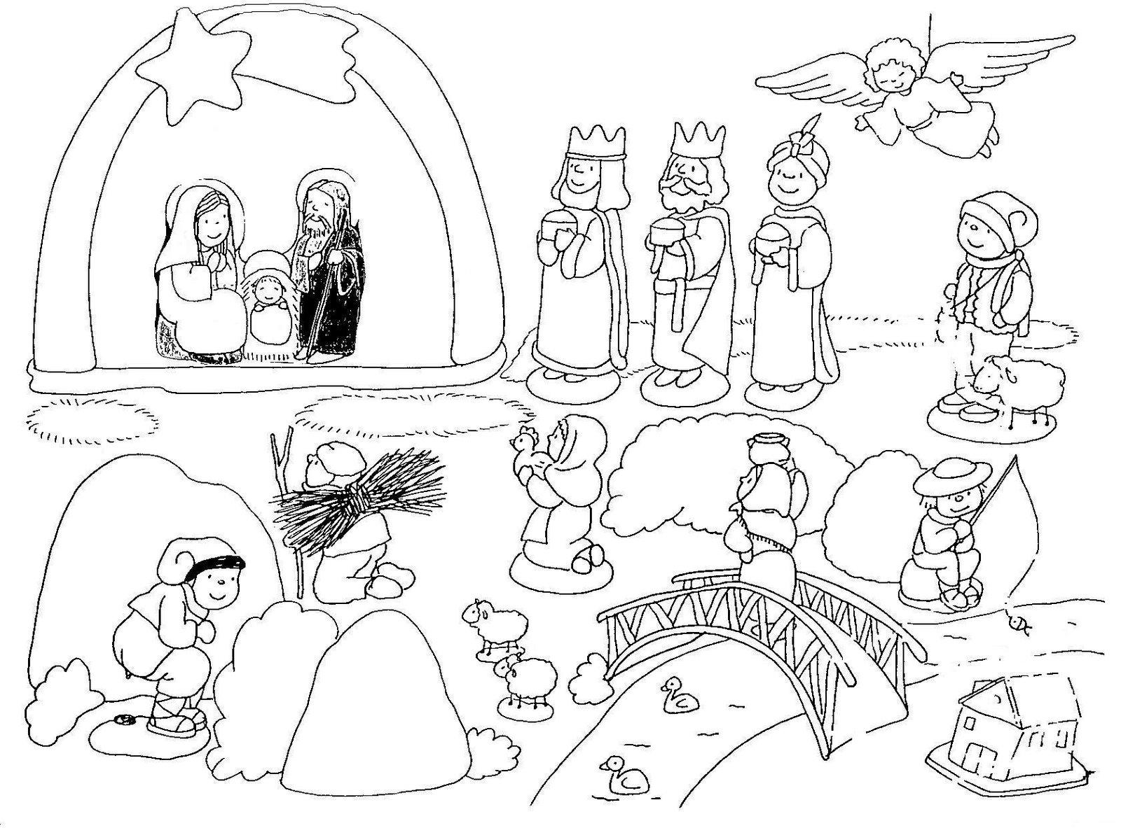 Dibujos para imprimir y colorear portal de bel n para - Dibujos de belenes ...
