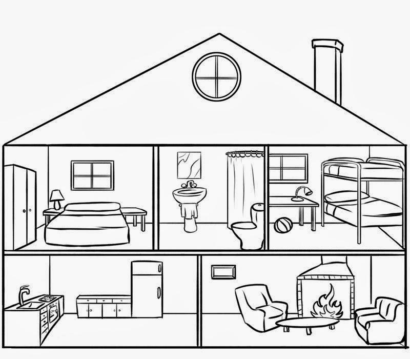 Maestra de infantil casas dependencias y objetos de la for Casas y cosas